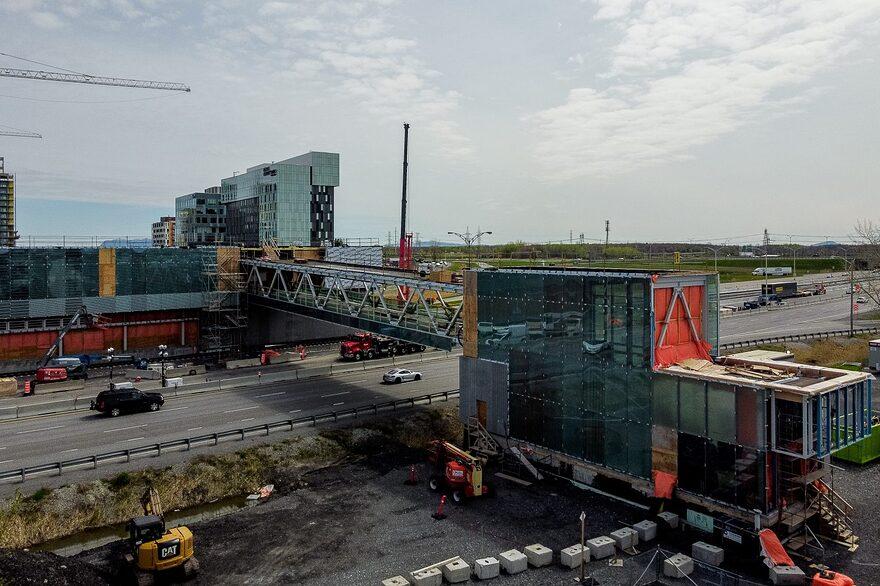 Accident de travail sur le chantier du REM Brossard