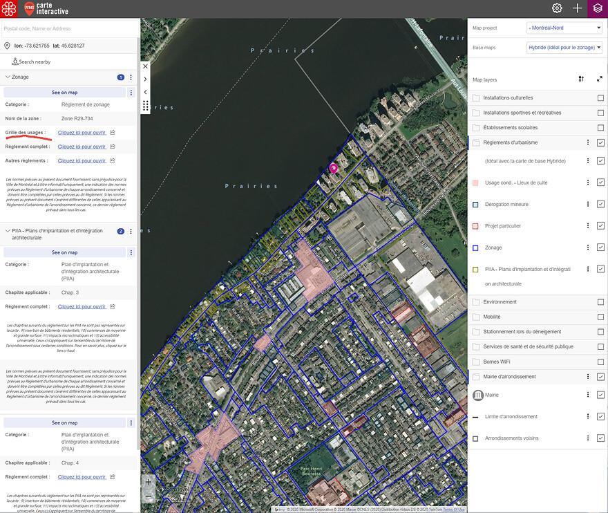 Carte Interactive Mtl-Nord