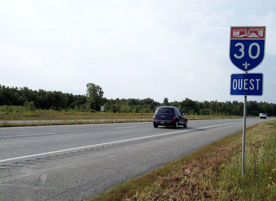 Circulation sur l'autoroute 30 perturbée par des travaux d'Hydro-Québec