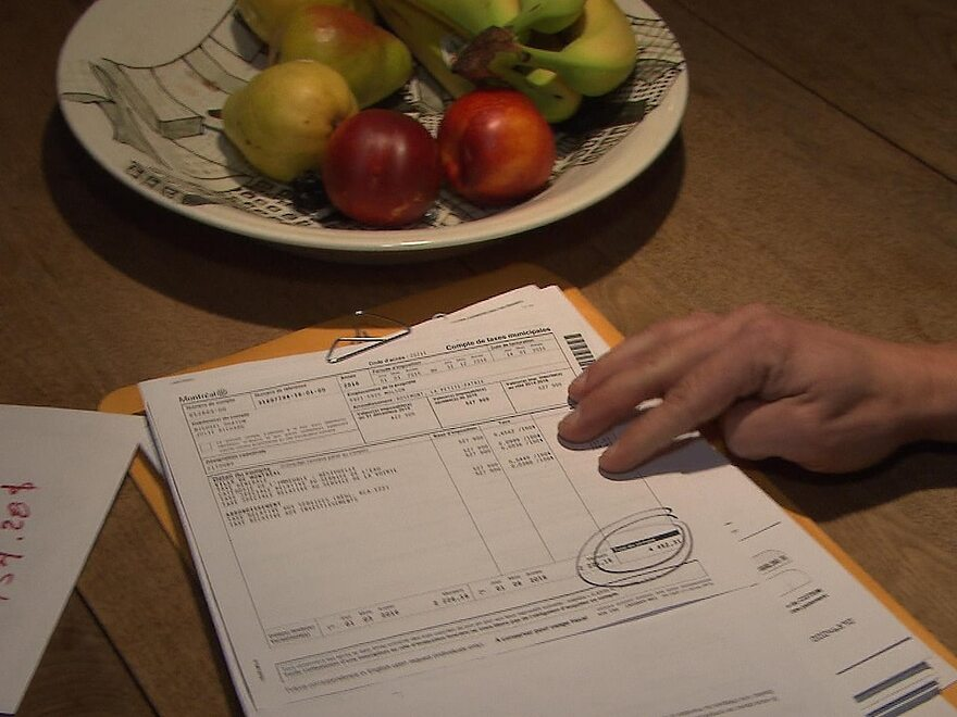 Un document indiquant le montant des taxes municipales payer