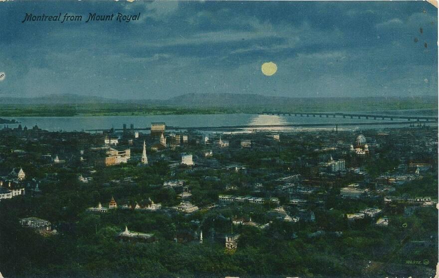 1910v vue du belvédère le soir