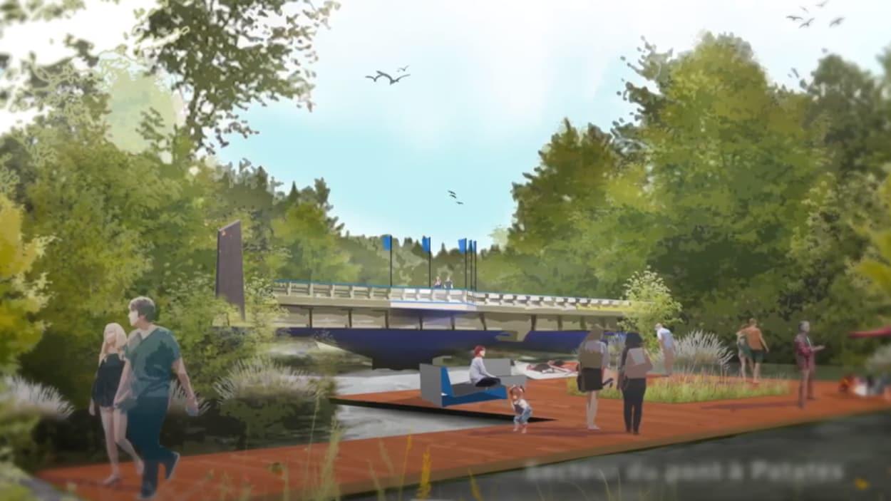 Le futur secteur du Pont patates de la rivire Saint-Charles devrait permettre une mise leau dembarcations