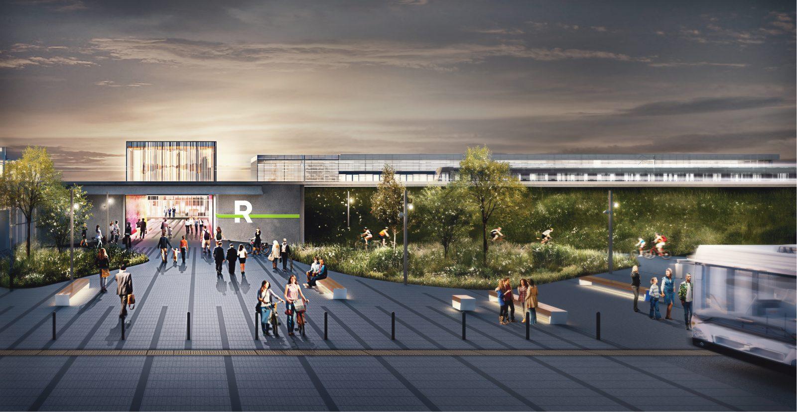 Station Panama du REM : un nouvel accès ouest sera proposé