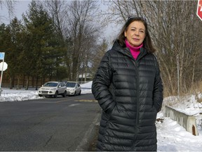 MONTREAL, QUE.: JANUARY 15, 2021 -- Ste-Anne-de-Bellevue mayor Paola Hawa on the edge of the L'Anse-à-l'Orme Nature Park in her suburb west of Montreal Friday January 15, 2021. (John Mahoney / MONTREAL GAZETTE) ORG XMIT: 65610 - 4986