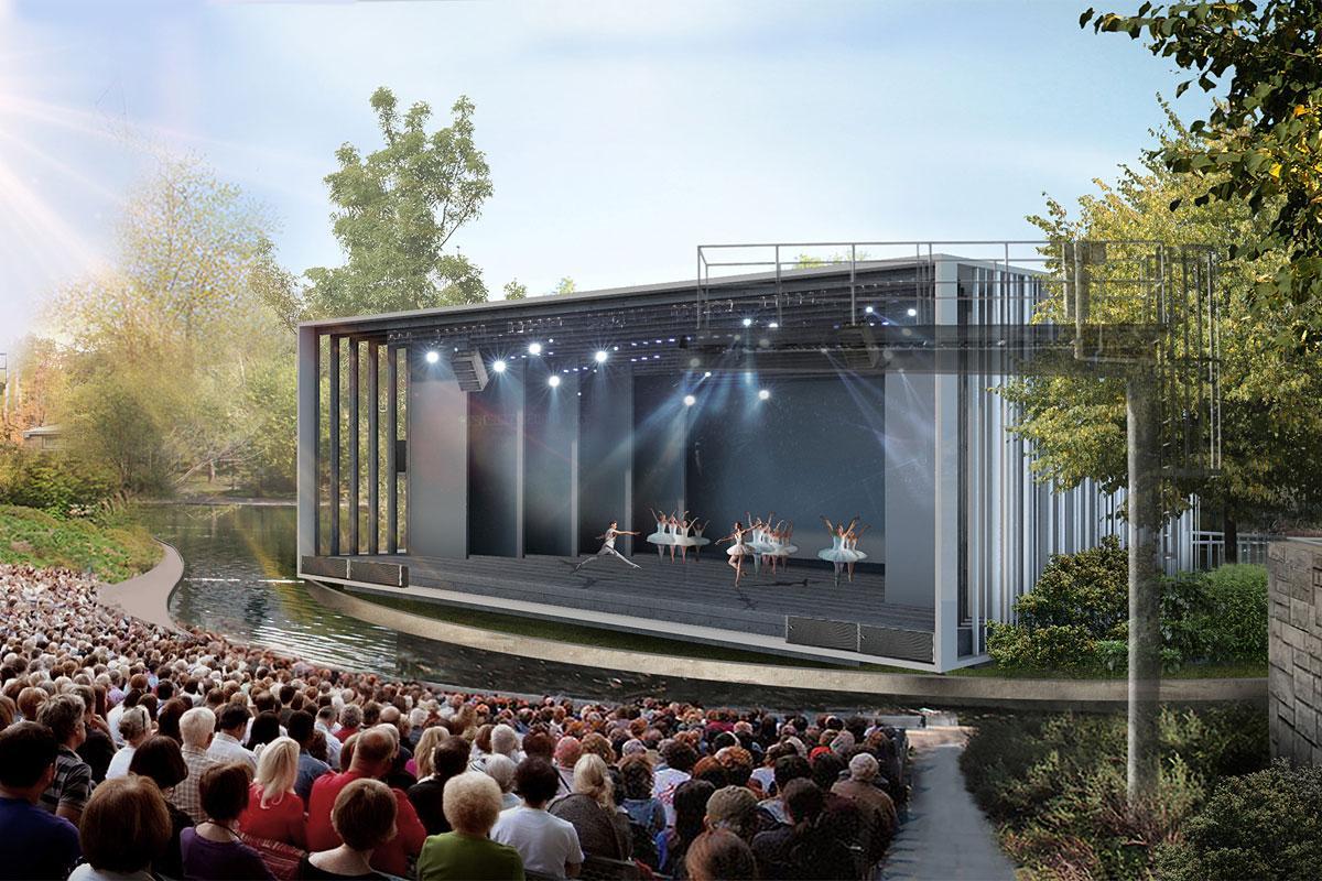 Un nouveau théâtre de Verdure qui s'intègrera dans le paysage. Crédit : Lemay