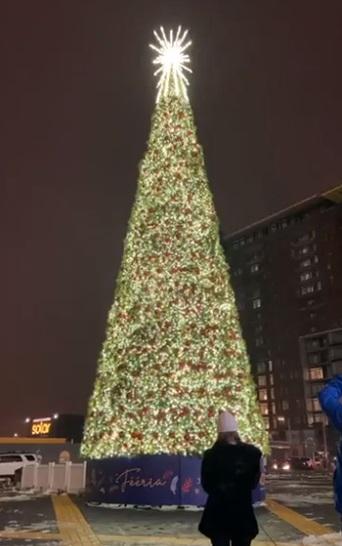 Un sapin de 18 mètres et avec plus de 68 000 lumières à Brossard