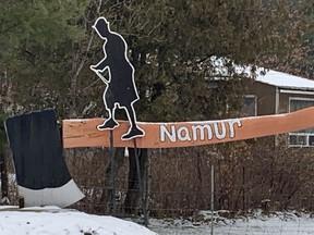 NAMUR- December 4, 2020. Sculpture at main intesecrion in Namur, que. Photo by Kelly Egan