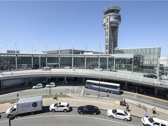 The control tower at Trudeau airport in Montreal