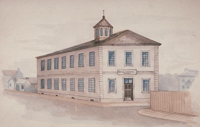 1826.c British and Canadian Free School esquisse