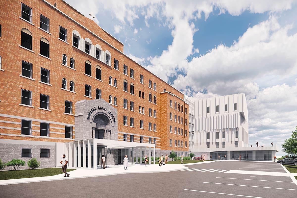 Financement supplémentaire pour la modernisation de l'Hôpital de Lachine. Crédit : Société québécoise des infrastructures/CUSM